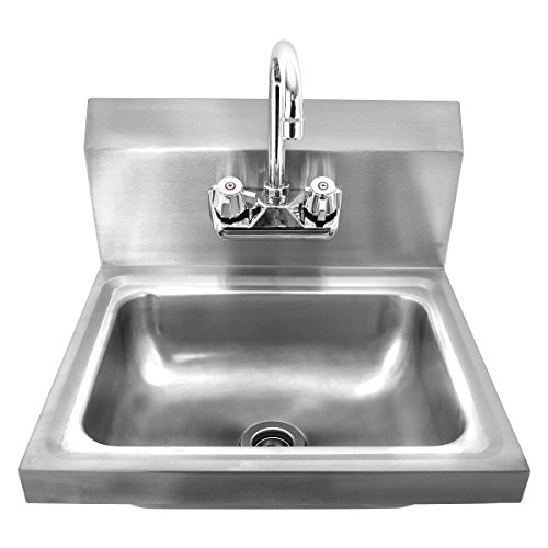 Giantex Stainless Steel Hand Wash Sink Wall Mount