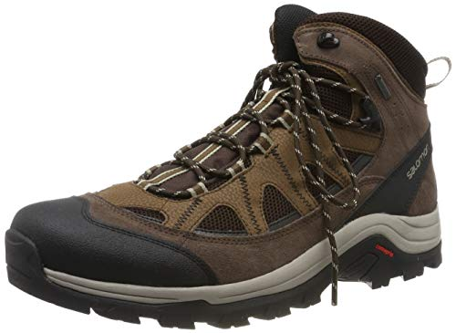 Salomon Men's Authentic LTR GTX Backpacking Boot, Black Coffee/Chocolate Brown/Vintage Kaki, 10.5 M US