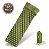 Hitorhike Backpack Sleeping Pad | Lightweight Camping Sleeping Bag Pad | Ultralight & Compact & Inflatable Air Mattress Pad-Insulated Air Mat | for Camp,Backpacking,Hiking,Scouts,Travel(Green)