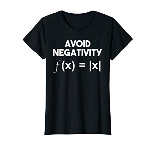 Womens Avoid Negativity: Funny Math Problem, Engineer Tee Shirt Medium Black