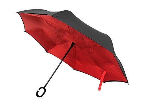 BetterBrella C-Shaped Umbrella (Red)