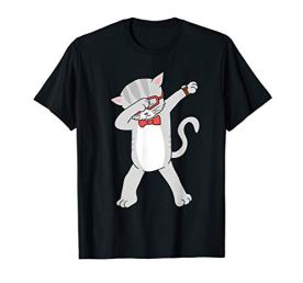 Dabbing-Cat-T-Shirt-Funny-Dab-Gift-Cat-Tee-T-Shirt