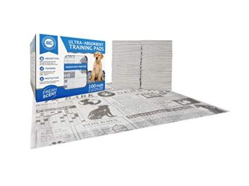 American-Kennel-Club-AKC-100-Count-Fresh-Scent-Newspaper-Print-Training-Pads