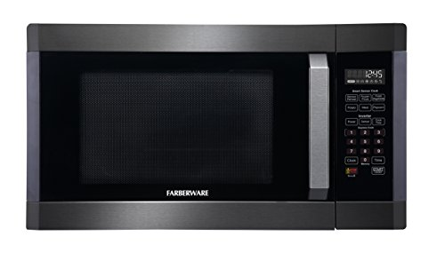 Farberware FMO16AHTBSA 1300-Watt Microwave Oven with with Smart Sensor and Inverter Technology, 1.6 Cubic Foot