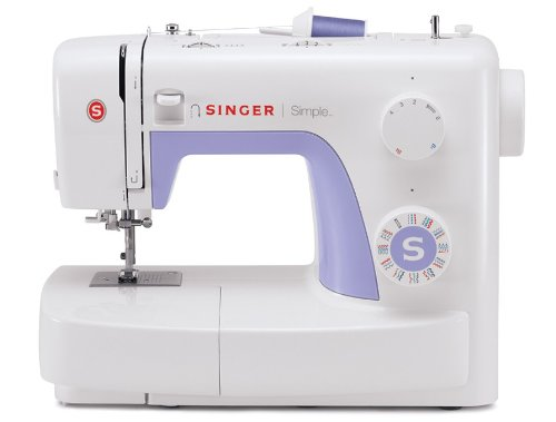SINGER | Simple 3232 Portable Sewing Machine with 32 Built-In Stitches Including 19 Decorative Stitches, Automatic Needle Threader and Free Arm, Best Sewing Machine for Beginners