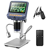 Koolertron 4.3 Inch 1080P LCD Digital USB Microscope with 10X-220X Magnification Zoom, 8 LED Adjustable Light, Camera Video Recorder for Phone Repair Soldering Tool Jewelry Appraisal Biologic Use