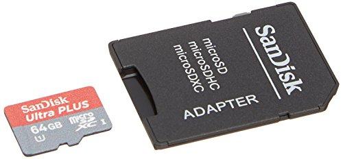 Sandisk Ultra Plus 64gb Microsdxc Class 10 Uhs-1 Memory Card