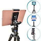 APPS2Car Tripod Tablet Mount with Adjustable Angles [2 in 1] for iPad Pro/Air/Mini, 7-11 inch Android Tablet, iPhone & Cell Phone Universal Tablet Mount Tripod Holder Adapter Stand for iPad/iPhone