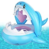 Baby Pool Float Swimming Float with Canopy Inflatable Floatie Swim Ring for Kids Aged 9-36 Months