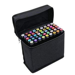 Art marker T6 Alcohol Markers Set of 40 Colors Dual Tip Marker Pens Art Markers Brush Tip Sketch Marker Broad Fine Point Pens With Free Pen Case