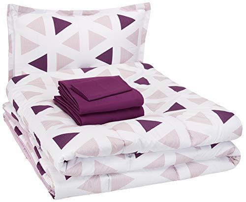 AmazonBasics Kid's Bed-in-a-Bag – Soft, Easy-Wash Microfiber