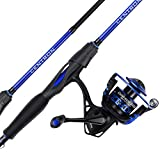 KastKing Centron Spinning Reel – Fishing Rod Combos, Toray IM6 Graphite 2Pc Blanks, Stainless Steel Guides, Contoured EVA Handles & Fighting Butt