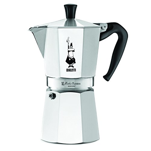 Bialetti 6801 moka stovertop coffee maker, 9-Cup, Silver
