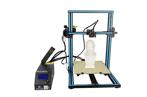 3D Printer CR 10S Blue Creality 3D Printer Updated Dual Z Axis 300×300×400mm Large Building Volume 0.05mm Cura PLA Free Filament & Tool Box