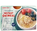 Trader Joe's Unsweetened INSTANT Oatmeal 11.3 oz (Pack of 2 boxes)