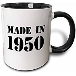 Made in 1950 Two Tone Black Mug
