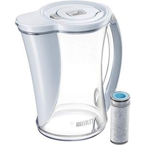 Brita Stream Cascade Water Filter Pitcher, Ice, Large 12 Cup, 1 Count
