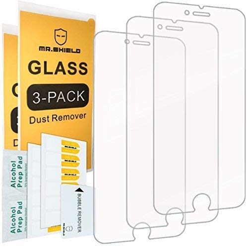 Mr Shield [Tempered Glass] Screen Protector For iPhone 6 / iPhone 6S / iPhone 7 / iPhone 8 [3-Pack] Screen Protector