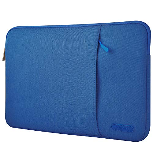 KECC 13-13.3″ Sleeve for Old MacBook Air 13″ A1466/A1369 / Old MacBook Pro 13″ A1502/A1425/A1278 Laptop Protective Case Canvas Bag with Pocket for Surface Book 13.5″ (Dark Blue)