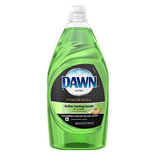 Green Dishwashing Liquid Soap - Dawn Ultra Hand Renewal Cucumber Melon Scented Dish Detergent