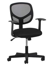 Essentials Swivel Mid Back Mesh Task Chair with Arms - Ergonomic Computer/Office Chair (ESS-3001)