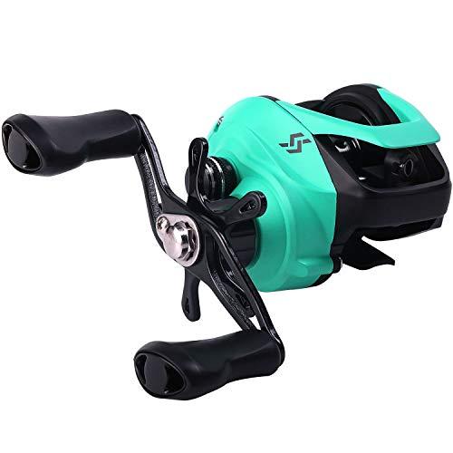 Sougayilang Baitcasting Fishing Reel 12+1 BB Casting Reel,Dual Brakes Baitcaster Reel