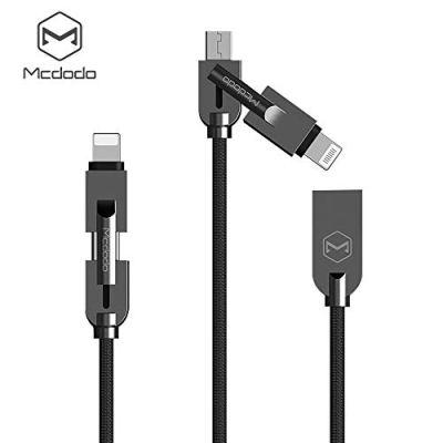 AICase Multi Cavo USB,2 in 1 Multi Cavo di Ricarica,Cavo L ightning/Micro USB per Phone XS/XS Max/XR/8/8 Plus, iPad e Altro-1.2M