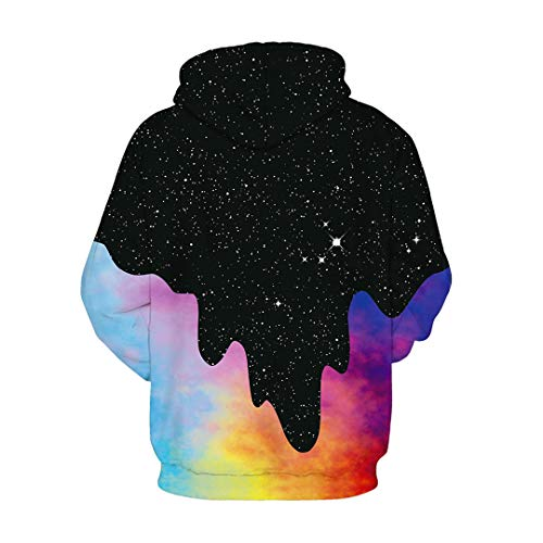 NEWCOSPLAY Unisex Athletic Hooded Sweatshirts 3D Digital Printed Hoodies Colorful Galaxy Pattern Big Pocket Sweaters 18 Fashion Online Shop gifts for her gifts for him womens full figure