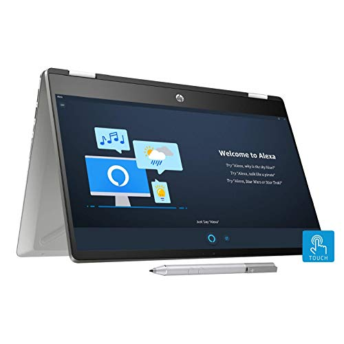 Hp Pavilion X360 Core I5 10th Gen 14 Inch Fhd Touchscreen 2 In 1 Alexa Enabled Laptop 8gb 256gb Ssd Windows 10 Ms Office Inking Pen Fpr Natural Silver 1 59 Kg 14 Dh1010tu