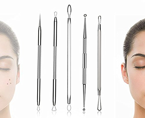 BESTOPE Blackhead Remover Pimple Comedone Extractor Tool Best Acne Removal Kit - Treatment for Blemish, Whitehead Popping, Zit Removing for Risk Free Nose Face Skin with Metal Case 8