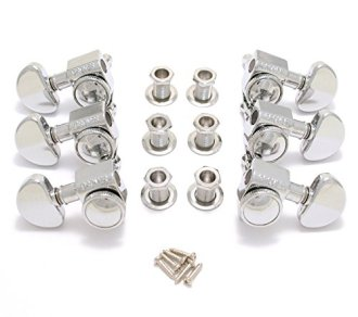 Grover 502C Roto-Grip Locking Rotomatic Tuners, 3-Per-Side, Chrome