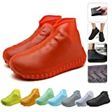 Nirohee Silicone Shoes Covers, Shoe Covers, Rain Boots Reusable Easy to Carry for Women, Men, Kids. (Red, L)
