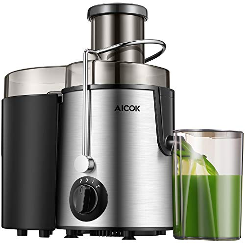 """Juicer Centrifugal Juicer Machine Wide 3"""" Feed Chute Juice Extractor with Pulse Function and Multi Speed control, Anti drip and Easy Cleaning, Stainless Steel BPA-Free"""