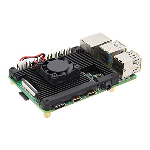 Geekworm-Raspberry-Pi-4-Embedded-Heatsink-with-Fan-P165-A-Raspberry-Pi-4B-Armor-Aluminum-Radiator-with-5V-Cooling-Fan-Compatible-with-Raspberry-Pi-4-Model-B-Computer-and-Pi-4