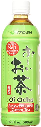 Ito En Oi Ocha Green Tea, Unsweetened, 16.9 Fluid Ounce (Pack of 12), Unsweetened, Zero Calories, with Antioxidants, Excellent Source of Vitamin C