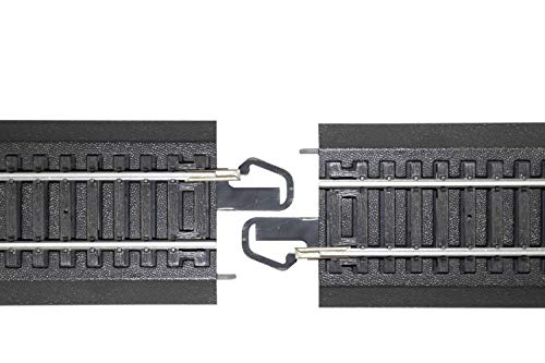 Bachmann-Trains-Snap-Fit-E-Z-Track-18-Radius-Curved-Track-4card-Steel-Alloy-Rail-With-Black-Roadbed-HO-Scale