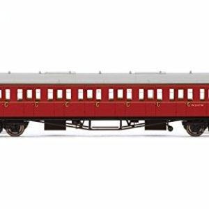 R4763 Hornby OO – BR Collett Coach Corridor Third Class W5147W, Maroon 41BPTHXR7HL