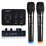 Sound Town 16-Channel Wireless Karaoke Mixer System with Bluetooth, HDMI, AUX, & 2 Handheld Microphones, Designed for Laptop, Media Box and Fire TV Casting Connection (SWM15-HBT)