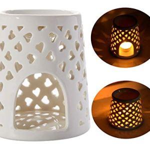 WANYA Ceramic Tea Light Holder, Aromatherapy Essential Oil Burner, Cute Design Living Room Home Decoration