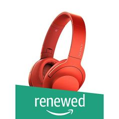 (Renewed) Sony MDR-100AAP On-Ear Hi-Res Audio Headphones (Cinnabar Red)