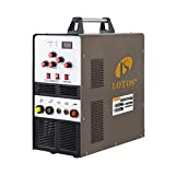 Lotos TIG200ACDC 200A AC/DC Aluminum Tig Welder with DC Stick/Arc Welder, Square Wave Inverter with Foot Pedal and Argon Regulator 110/220V Dual Voltage Brown