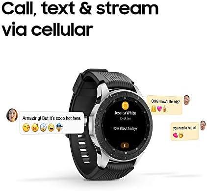Samsung Galaxy Watch smartwatch (46mm, GPS, Bluetooth) – Silver/Black (US Version with Warranty) 9