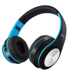 Fire-Boltt Blast 1000 Hi-Fi Stereo Over-Ear Bluetooth Headphones with Foldable Earmuffs, 20-Hours Playtime & Built-in Mic (Blue)