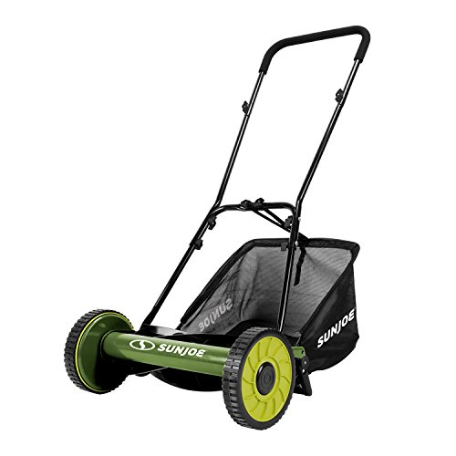 Snow Joe MJ500M 16' Manual Reel Mower with Catcher