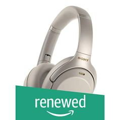 (Renewed) Sony WH-1000XM3 Wireless Industry Leading Noise Cancellation Headphones with Alexa (Silver)