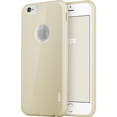 iPhone 6 Case, ESR Soft Rubber Case with Apple Logo Cut-Out [Yippee Colour Series] [Ultra Thin] [Scratch-Resistant] Protective Cover for 4.7 inches iPhone 6 (Champagne Gold)¡