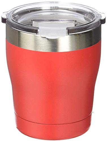 Tahoe Trail Stainless Steel Tumbler Vacuum Insulated Double Wall Travel Cup With Lid (Red, 10oz)