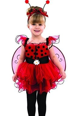 Childs Toddler Ladybug Halloween Birthday costume Dress, Wings & Headband!