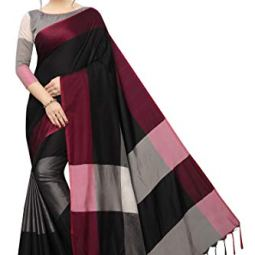 PERFECTBLUE Women`s Art Silk saree with Blouse Piece(Sa9na3shadeVariation)