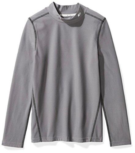 Starter Boys' Long Sleeve Mock Neck Athletic Light-Compression T-Shirt, Amazon Exclusive, Iron Grey, M (8/10)